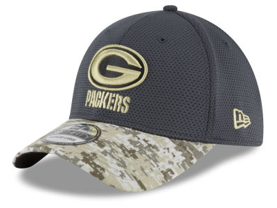 Green Bay Packers NFL Salute to Service Official 39THIRTY Cap Hats