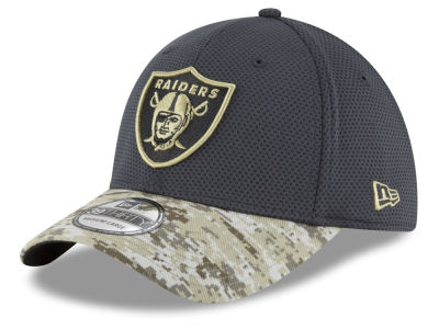 Oakland Raiders NFL Salute to Service Official 39THIRTY Cap Hats