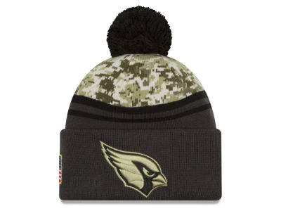Arizona Cardinals NFL Salute to Service Official Pom Knit Hats