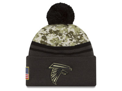 Atlanta Falcons NFL Salute to Service Official Pom Knit Hats