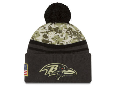 Baltimore Ravens NFL Salute to Service Official Pom Knit Hats