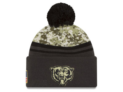Chicago Bears NFL Salute to Service Official Pom Knit Hats