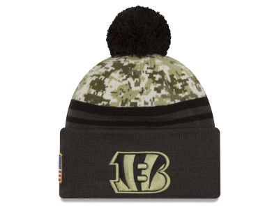Cincinnati Bengals NFL Salute to Service Official Pom Knit Hats