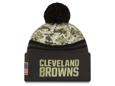 Cleveland Browns NFL Salute to Service Official Pom Knit Hats