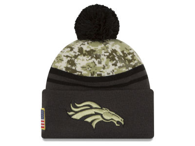 Denver Broncos NFL Salute to Service Official Pom Knit Hats