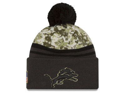 Detroit Lions NFL Salute to Service Official Pom Knit Hats