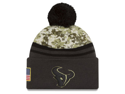 Houston Texans NFL Salute to Service Official Pom Knit Hats