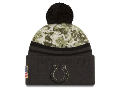 Indianapolis Colts NFL Salute to Service Official Pom Knit Hats