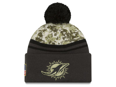 Miami Dolphins NFL Salute to Service Official Pom Knit Hats