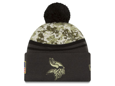 Minnesota Vikings NFL Salute to Service Official Pom Knit Hats