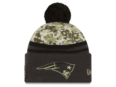 New England Patriots NFL Salute to Service Official Pom Knit Hats