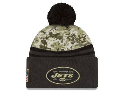 New York Jets NFL Salute to Service Official Pom Knit Hats