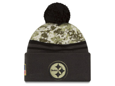 Pittsburgh Steelers NFL Salute to Service Official Pom Knit Hats