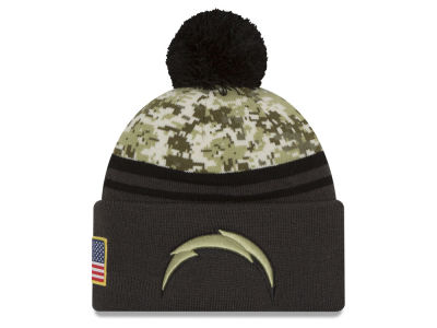 Los Angeles Chargers NFL Salute to Service Official Pom Knit Hats