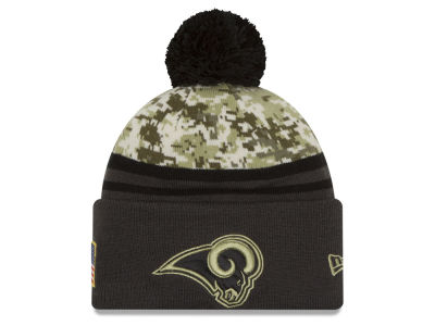 Los Angeles Rams NFL Salute to Service Official Pom Knit Hats