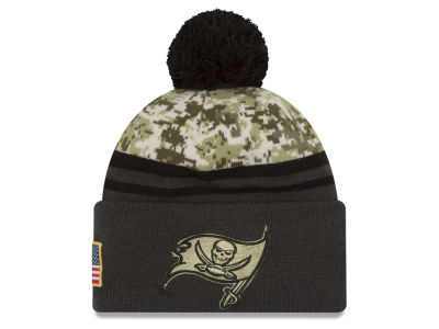 Tampa Bay Buccaneers NFL Salute to Service Official Pom Knit Hats
