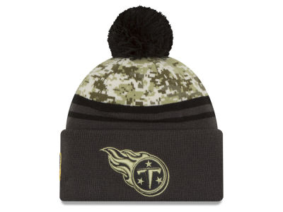 Tennessee Titans NFL Salute to Service Official Pom Knit Hats