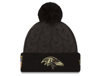Baltimore Ravens NFL Salute to Service Women's Pom Knit Hats