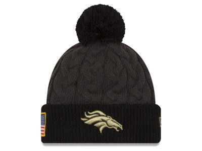 Denver Broncos NFL Salute to Service Women's Pom Knit Hats