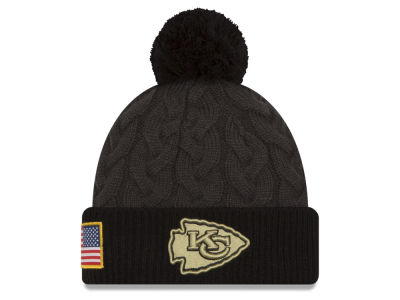 Kansas City Chiefs NFL Salute to Service Women's Pom Knit Hats