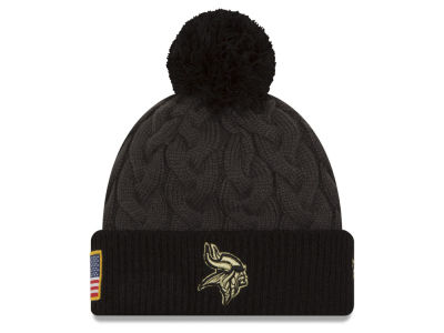 Minnesota Vikings NFL Salute to Service Women's Pom Knit Hats