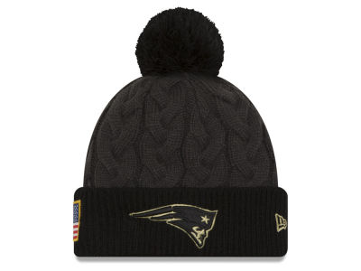 New England Patriots NFL Salute to Service Women's Pom Knit Hats