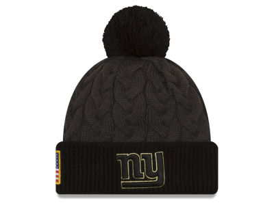 New York Giants NFL Salute to Service Women's Pom Knit Hats