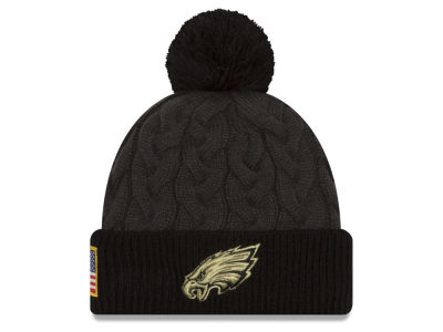 Philadelphia Eagles NFL Salute to Service Women's Pom Knit Hats