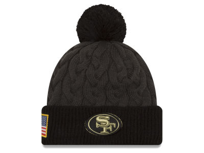 San Francisco 49ers NFL Salute to Service Women's Pom Knit Hats