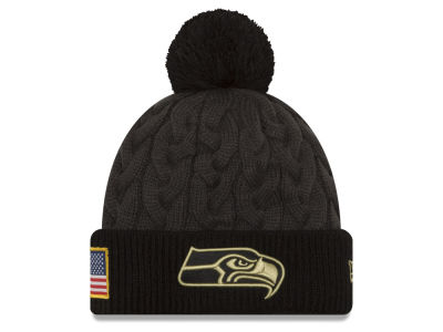 Seattle Seahawks NFL Salute to Service Women's Pom Knit Hats