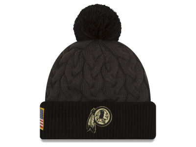 Washington Redskins NFL Salute to Service Women's Pom Knit Hats
