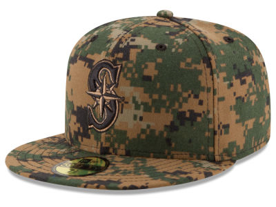 Seattle Mariners MLB 2016 Memorial Day 59FIFTY Cap Hats
