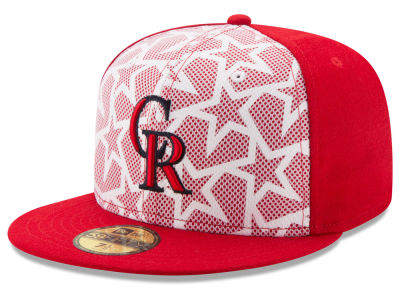 Colorado Rockies 2016 MLB AC Stars & Stripes 59FIFTY Cap Hats