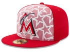 Miami Marlins New Era 2016 MLB AC Stars & Stripes 59FIFTY Cap Fitted Hats