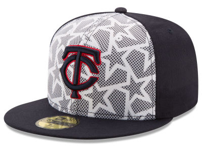 Minnesota Twins 2016 MLB AC Stars & Stripes 59FIFTY Cap Hats