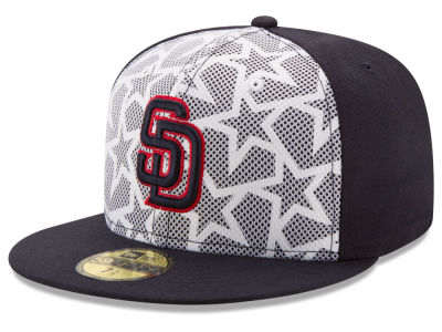 San Diego Padres 2016 MLB AC Stars & Stripes 59FIFTY Cap Hats