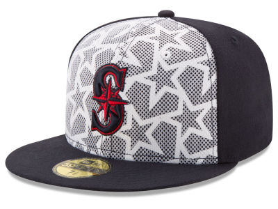 Seattle Mariners 2016 MLB AC Stars & Stripes 59FIFTY Cap Hats
