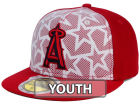 Los Angeles Angels New Era 2016 MLB Kids AC Stars & Stripes 59FIFTY Cap Fitted Hats