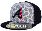 Atlanta Braves New Era 2016 MLB Kids AC Stars & Stripes 59FIFTY Cap Fitted Hats