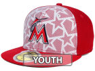 Miami Marlins New Era 2016 MLB Kids AC Stars & Stripes 59FIFTY Cap Fitted Hats