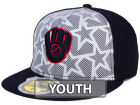 Milwaukee Brewers New Era 2016 MLB Kids AC Stars & Stripes 59FIFTY Cap Fitted Hats