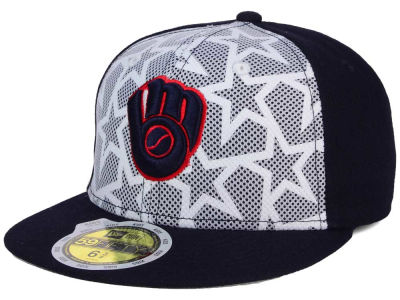 Milwaukee Brewers 2016 MLB Kids AC Stars & Stripes 59FIFTY Cap Hats
