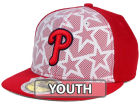 Philadelphia Phillies New Era 2016 MLB Kids AC Stars & Stripes 59FIFTY Cap Fitted Hats