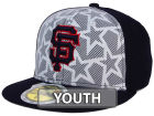San Francisco Giants New Era 2016 MLB Kids AC Stars & Stripes 59FIFTY Cap Fitted Hats