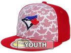 Toronto Blue Jays New Era 2016 MLB Kids AC Stars & Stripes 59FIFTY Cap Fitted Hats