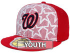 Washington Nationals New Era 2016 MLB Kids AC Stars & Stripes 59FIFTY Cap Fitted Hats