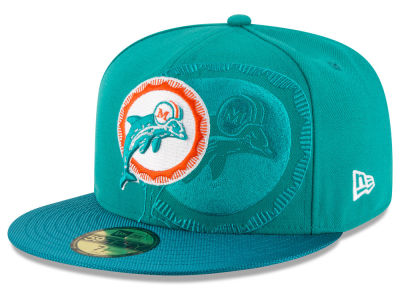 Miami Dolphins 2016 Official NFL Sideline 59FIFTY Cap Hats