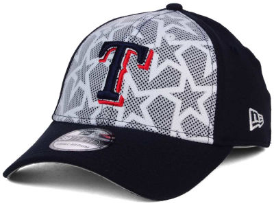 Texas Rangers 2016 MLB AC Stars & Stripes 39THIRTY Cap Hats