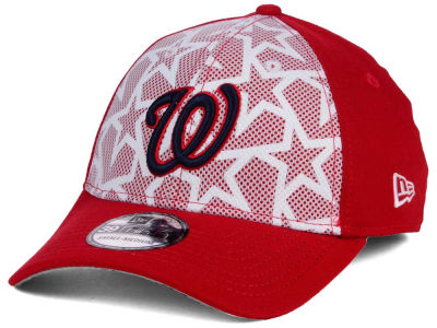 Washington Nationals 2016 MLB AC Stars & Stripes 39THIRTY Cap Hats