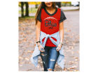 Ohio State Buckeyes Gameday Couture NCAA Women's Herringbone Football T-Shirt T-Shirts